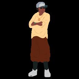 Hip-Hop-Rap-Charakter des Mannes Raper