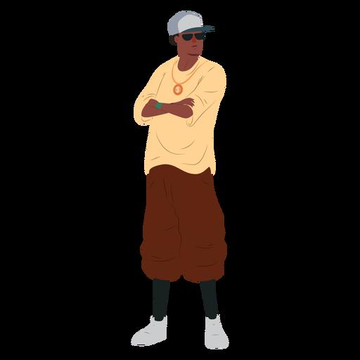 Hombre raper hip hop rap personaje Transparent PNG