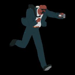 Homem, segurança, paleto, ilustração