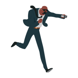 Man security suit illustration