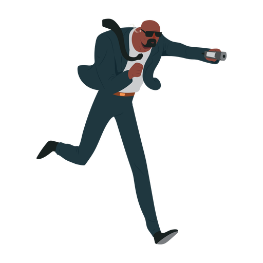 Man security suit illustration Transparent PNG