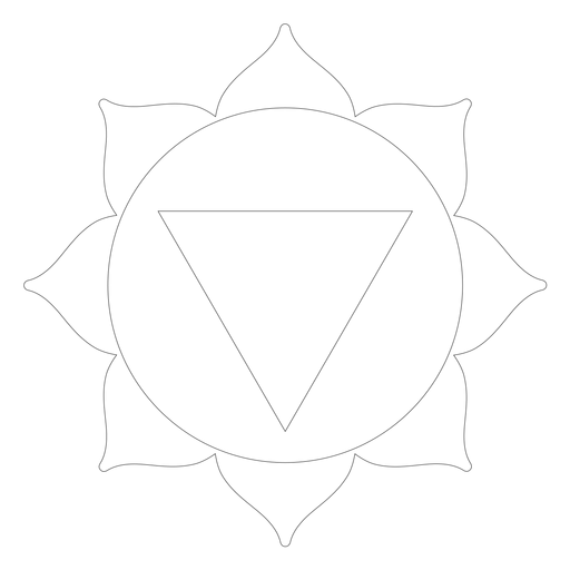Icono de chakra manipura Transparent PNG