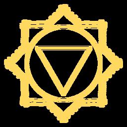 Manipura chakra icono de trazo