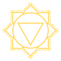 Manipura Chakra Schlaganfall-Symbol