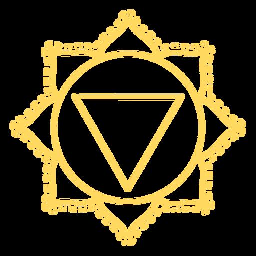 Manipura chakra stroke icon Transparent PNG