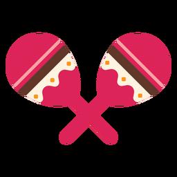 Maracas Streifenmuster zwei Paar flach