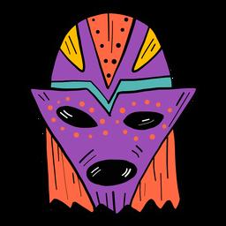 Máscara ojo boca agujero mancha color color boceto