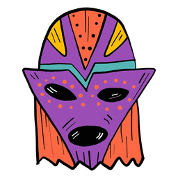 Máscara olho boca buraco local cor cor esboço
