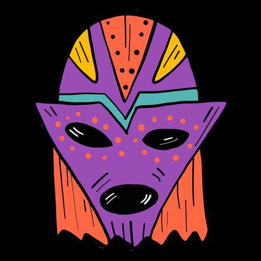 Máscara ojo boca agujero mancha color color boceto Transparent PNG