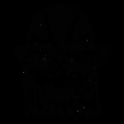 Máscara ojo boca agujero spot sketch