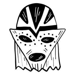 Maskenauge-Mundloch-Punktskizze