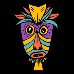 Máscara pena nariz olho boca buraco mancha cor cor esboço