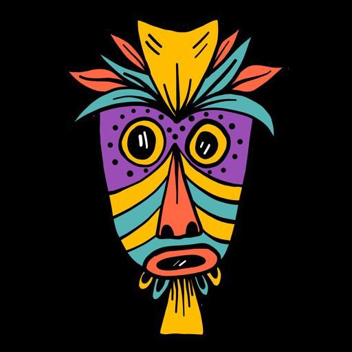 Mask Feather Nose Eye Mouth Hole Spot Color Colour Sketch Transparent Png Svg Vector