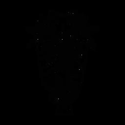 Máscara pluma nariz ojo boca agujero punto boceto