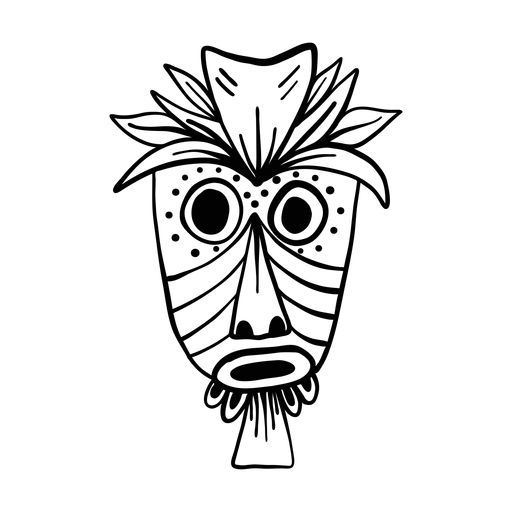 Mask feather nose eye mouth hole spot sketch Transparent PNG