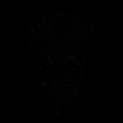 Maskenfeder-Nase-Augenloch-Punktskizze Transparent PNG