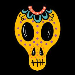 Máscara cráneo croquis de color.