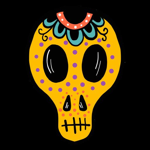 Maske-Schädel-Farbskizze Transparent PNG