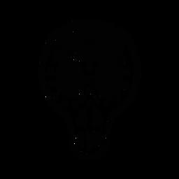 Maskenschädel-Schädel-Nasenloch-Augenloch-Punktskizze