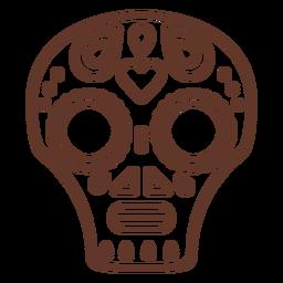 Máscara cráneo trazo craneal