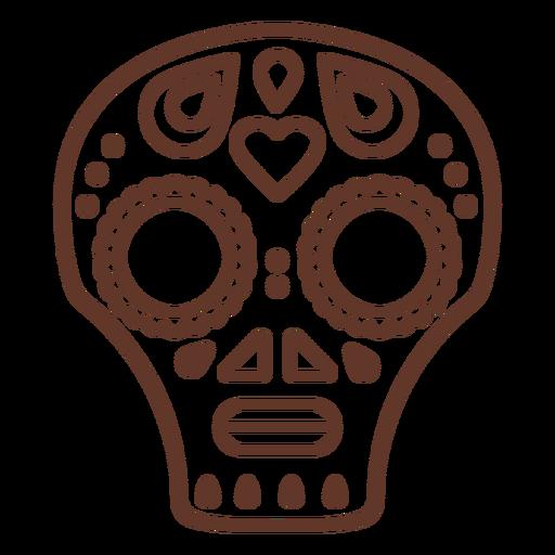 Mascarar crânio cranium stroke Transparent PNG