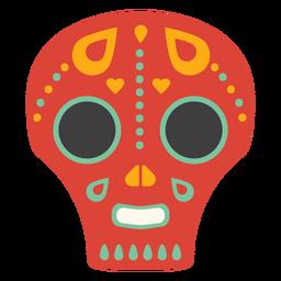 Maske Schädel flach