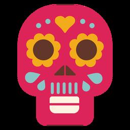 Máscara cráneo plano icono