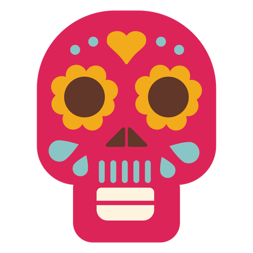 Mask skull flat icon Transparent PNG