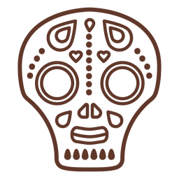 Mask skull illustration  stroke