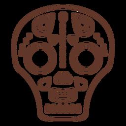 Traçado de ilustração de caveira de máscara