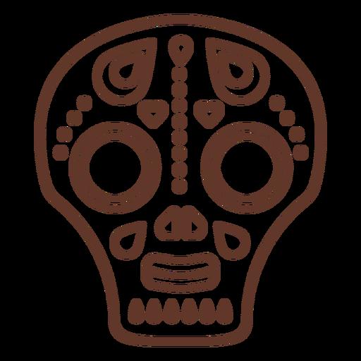 Mask skull illustration  stroke Transparent PNG