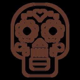 Mask skull stroke