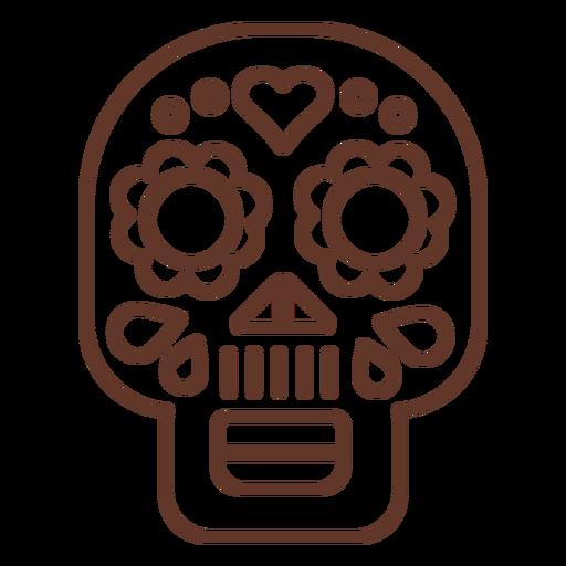 Mask skull stroke Transparent PNG