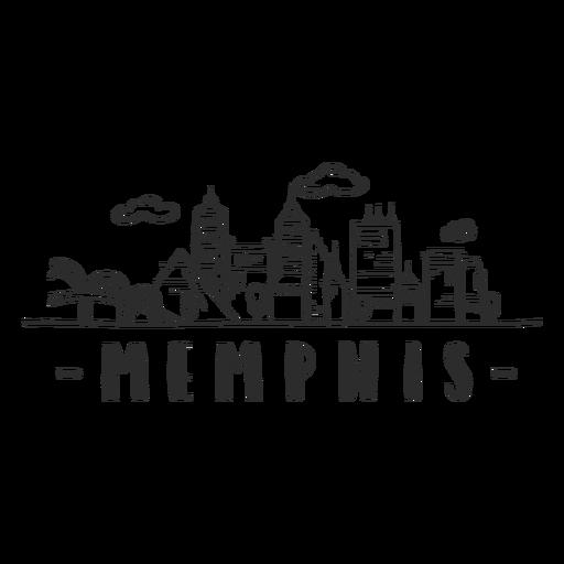 Memphis bridge spire pyramid sky scraper skyline sticker
