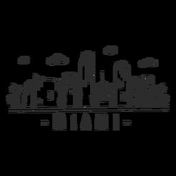 Miami sky scraper skyline sticker