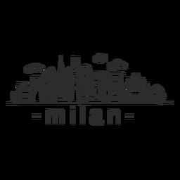 Construção de Milão céu raspador construção templo nuvem skyline adesivo