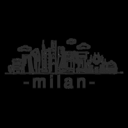 Adesivo skyline de Milão Transparent PNG