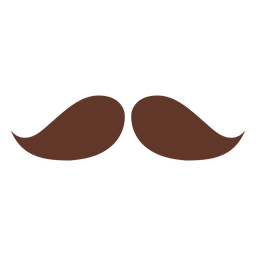 Moustache pair two flat
