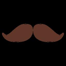 Schnurrbart Paar zwei flach