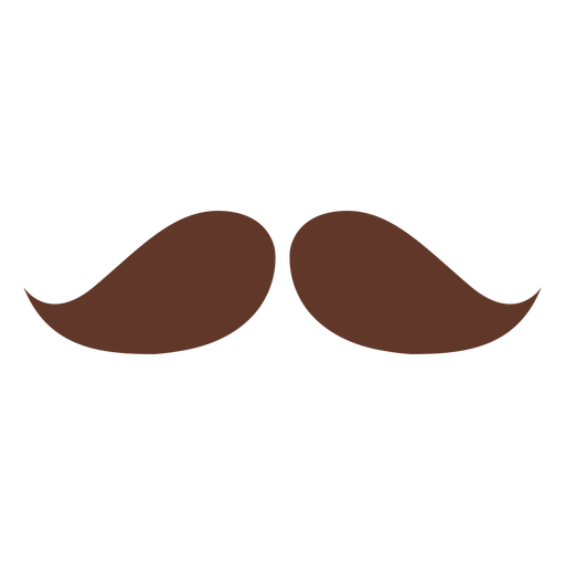 Moustache pair two flat Transparent PNG