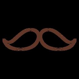 Schnurrbart Paar zwei Schlaganfall