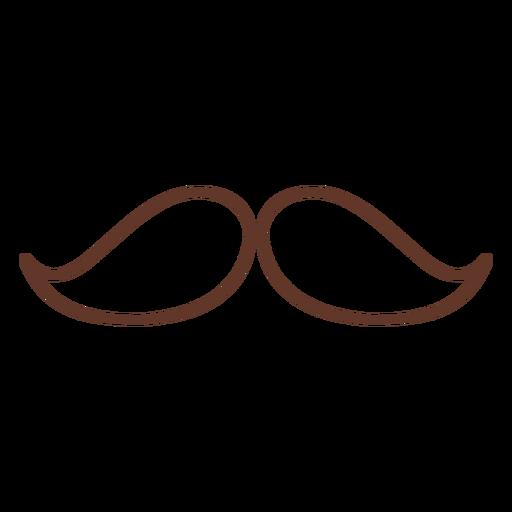 Moustache pair two stroke Transparent PNG