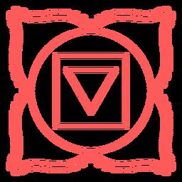 Muladhara-Schlag-Chakra-Symbol