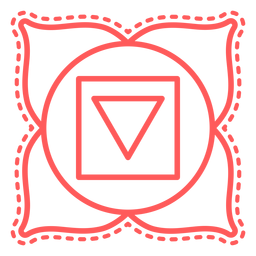 Muladhara stroke chakra icon
