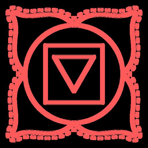 Muladhara stroke chakra icon Transparent PNG