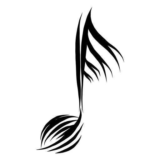 Musical pinstripe note icon