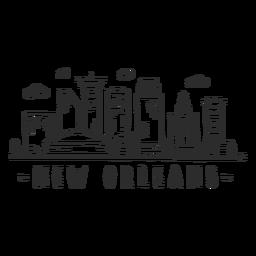 New Orleans-Kathedralengeschäftszentrumhimmelschabermallwolkenskylineaufkleber