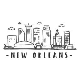New orleans sky scraper skyline sticker