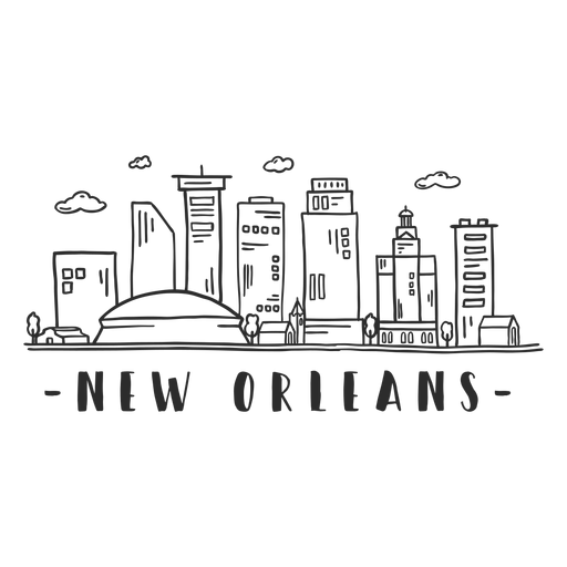 New orleans cathedral business center sky scraper mall cloud skyline sticker Transparent PNG