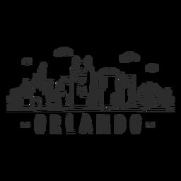 Orlando castle disneyland sky scraper skyline sticker